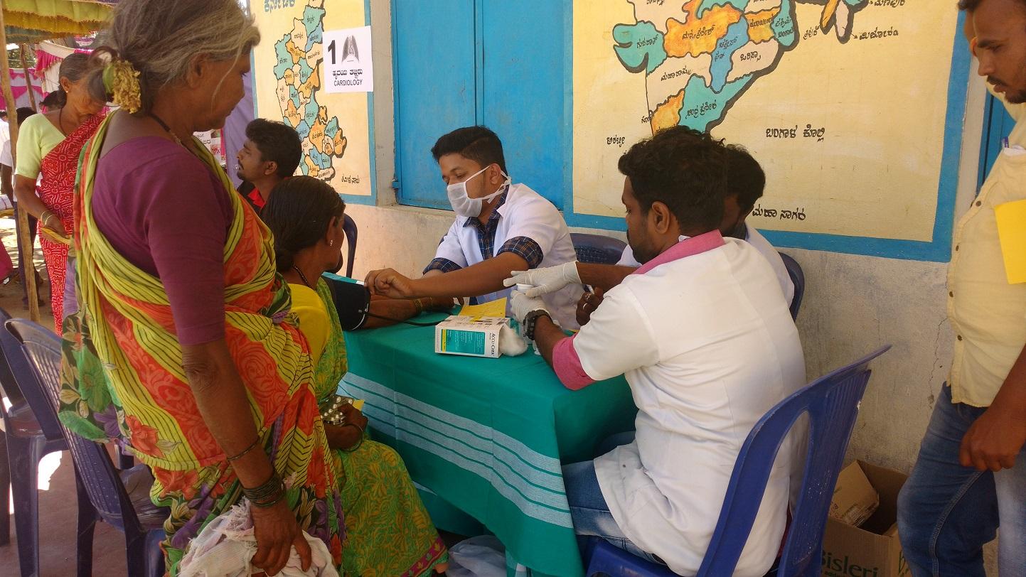 Community Health Camp at Yelachalawadi Village, Karnataka